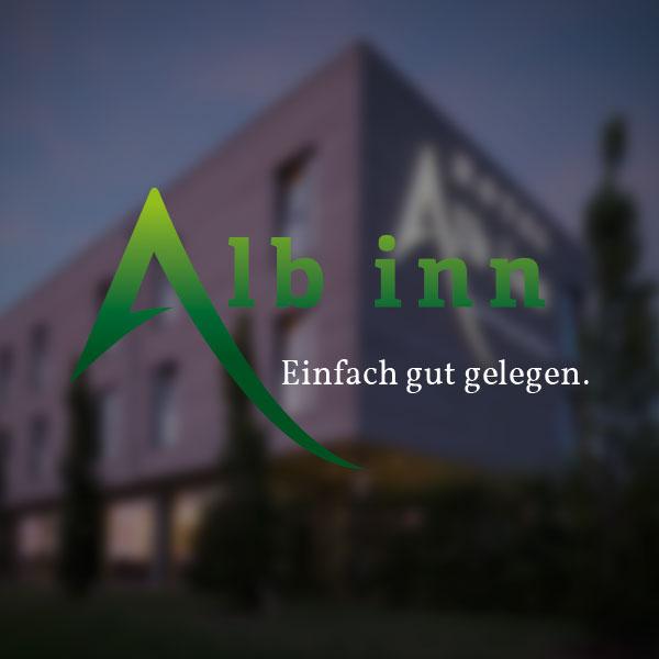 Hotel Alb inn - Fassadenbeschriftung in 3D LED-Elementen