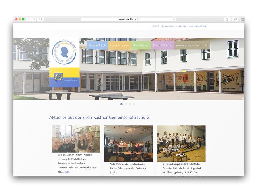 Informationsseite mit Redaktionssystem für die Gemeinschaftsschule Laichingen