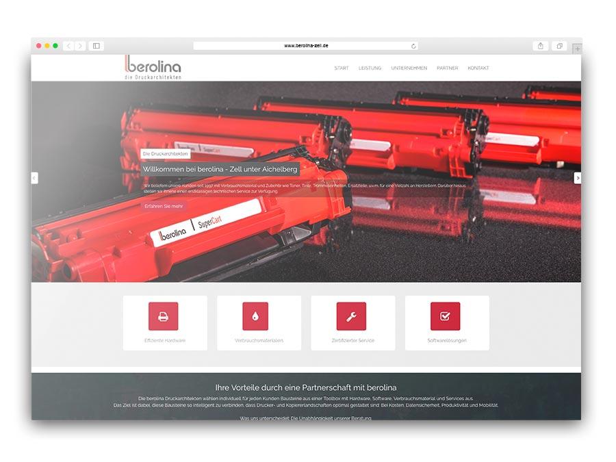 One-Pager für das Vertriebsbüro Zell der berolina SüdWest GmbH
